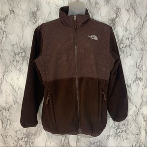 The North Face Zip Up Brown Jacket Floral print